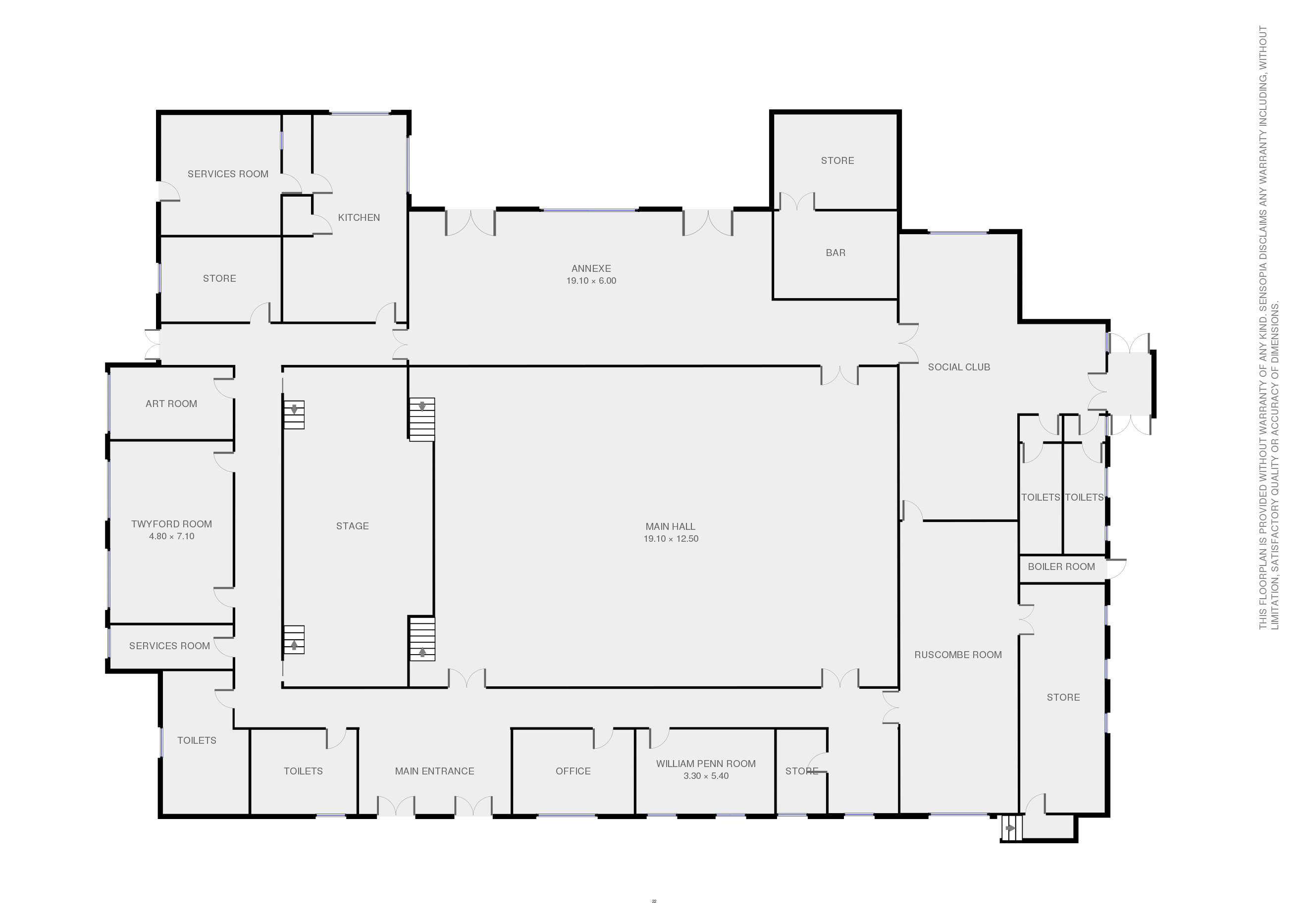 Loddon Hall Floor Plan